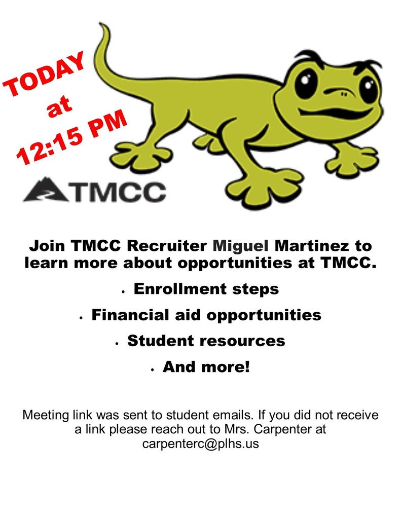 TMCC office hours today at 12:15 pm!